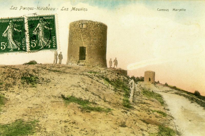 Le Moulin de Palières dont il ne restait à l'époque que la structure.